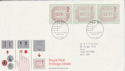 1984-05-01 Postage Labels Stamps Cambridge FDC (66390)
