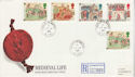 1986-06-17 Medieval Life Stamps Castle Whitby cds FDC (66491)