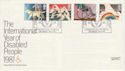 1981-03-25 Year of Disabled Carters Westbury FDC (66511)