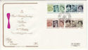1986-04-21 Queens 60th Birthday Stamps BF 2113 PS FDC (66530)
