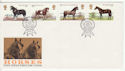 1978-07-05 Horses Stamps Royal Show Kenilworth FDC (66606)