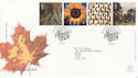 2000-08-01 Tree and Leaf Stamps St Austell FDC (66625)