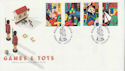 1989-05-16 Games and Toys Stamps Pollocks London FDC (66647)