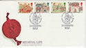 1986-06-17 Medieval Life Stamps Winchester FDC (66659)