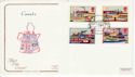 1993-07-20 Inland Waterways Market Harborough FDC (66754)