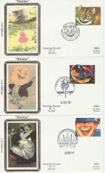1990-02-06 Greetings Stamps set of 10 Benham FDC (67212)