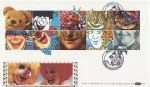 1990-02-06 Greetings Smiles Stamps Clowne Silk FDC (67214)