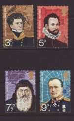 1972-02-16 SG897/900 Explorers Stamps MINT Set (67423)