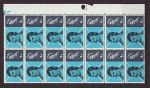 1966-01-25 Robert Burns Stamps Block of 14 Mint (67694)