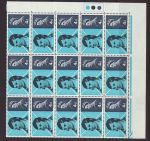 1966-01-25 Robert Burns Stamps Block of 15 Mint (67696)