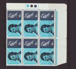 1966-01-25 Robert Burns Stamps Block of 6 Mint (67697)
