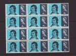1966-01-25 Robert Burns Stamps Block of 12 Mint (67700)
