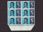 1966-01-25 Robert Burns Stamps Block of 6 Phos Mint (67701)