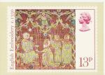 1976-11-24 Christmas 13p PHQ Card Used London FDC (67731)