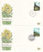 1979-03-21 British Flowers Stamps x4 pmk FDC (68334)