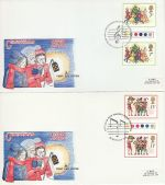 1978-11-22 Christmas T/L Gutter Stamps Part Set x2 FDC (68425)