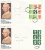 1980-04-16 Wedgwood Booklet Panes Devon x4 FDC (68489)