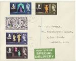1964-04-23 Shakespeare Stamps Kings Cross cds FDC (68654)