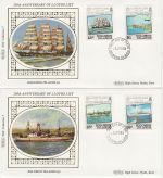 1984-04-21 Solomon Islands Lloyds Shipping x2 FDC (68757)