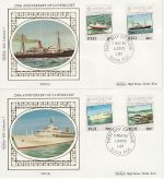 1984-05-07 Fiji Lloyds Shipping Stamps x2 FDC (68765)