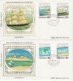 1984-04-25 Barbados Lloyds Shipping Stamps x2 FDC (68769)