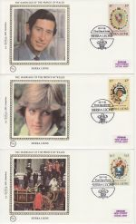 1981-07-22 Sierra Leone Royal Wedding Stamps x3 FDC (68832)