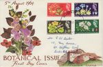 1964-08-05 Botanical Congress Stamps Exeter FDC (69322)