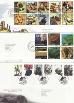 2005 Bulk Buy x 14 FDC From 2005 With Special Pmks (69656)