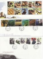 2005 Bulk Buy x 12 FDC From 2005 With cds Pmks (69757)