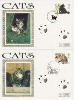 1995-01-17 Cats Stamps Set of 5 Special Pmk FDC (71109)