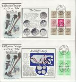 1983-09-14 Royal Mint Booklet Full Panes x4 FDC (71910)