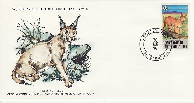1979-08-30 Volta The Felids Caracal Cat FDC (72206)