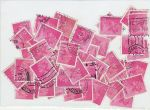 2½p Stamps used off paper over 40 Stamps (72596)