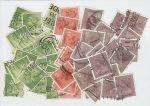 8½p 10p & 20p Stamps used off paper approx 50 Stamps (72603)