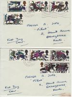 1966-10-14 Battle of Hastings Hastings x2 FDC (72778)