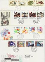 1988 Bulk Buy x8 FDC From 1988 Bureau + SHS Pmk (72979)