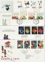 1989 Bulk Buy x8 FDC From 1989 Bureau + SHS Pmk (72980)