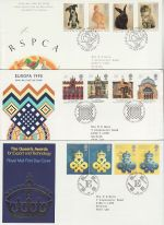 1990 Bulk Buy x9 FDC from 1990 Bureau + SHS Pmk (72981)