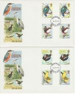 1980-01-16 Birds Gutter Stamps Windsor x2 FDC (73141)