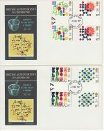 1977-03-02 Chemistry Gutter Stamps x2 FDC (73154)