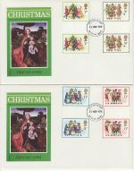 1978-11-22 Christmas Gutter Stamps Aylesbury x2 FDC (73160)