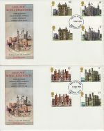 1978-03-01 Historic Buildings Gutter Stamps x2 FDC (73166)