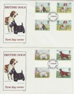 1979-02-07 Dogs Gutter Stamps Aylesbury x2 FDC (73171)
