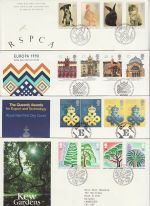 1990 Bulk Buy x8 FDC from 1990 Bureau Pmk (73196)