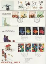 1989 Bulk Buy x7 FDC from 1989 Bureau Pmk (73199)