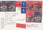 1970-12-29 Christmas Stamps Used on Cover (73246)