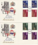 1978-05-31 Coronation Gutter Stamps Aylesbury x2 FDC (73490)