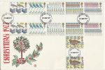 1977-11-23 Christmas Gutter Pair Stamps Aylesbury FDC (73726)