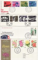 1976 Bulk Buy x7 First Day Covers with Bureau Pmks (73814)