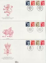 1990-12-04 Regional Definitive Stamps x3 SHS FDC (76014)